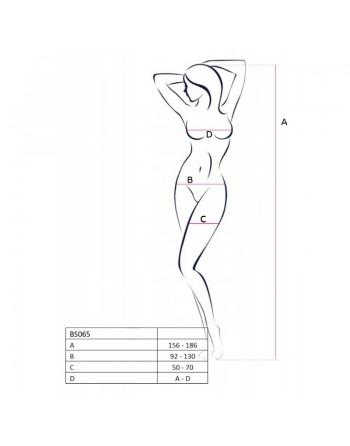 BS065 Bodystocking - Noir