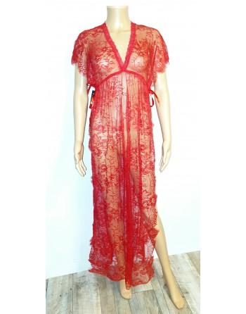 longue robe en dentelle