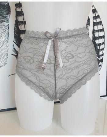 culotte taille haute grise
