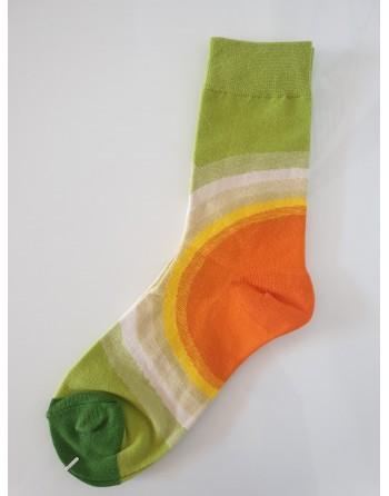 chaussette vert/orange...