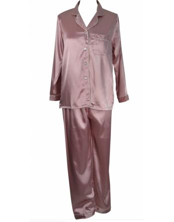 Pyjama rose en satin