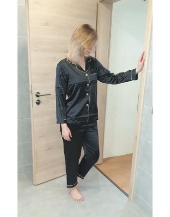 Pyjama en satin noir
