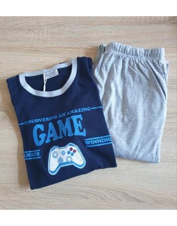 Pyjama homme Game bleu foncé