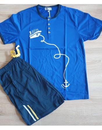 Pyjama été homme bleu