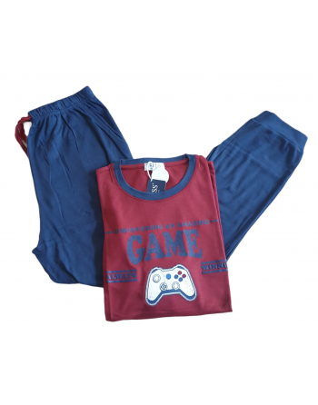 Pyjama homme Game bordeaux