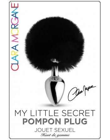 Plug pompon noir Clara Morgane