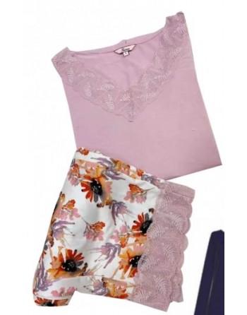 pyjama été pantalon fleuri...