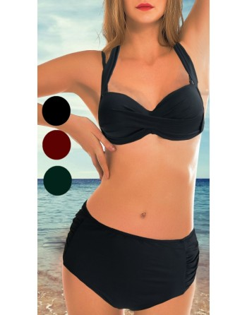 bikini grande taille noir