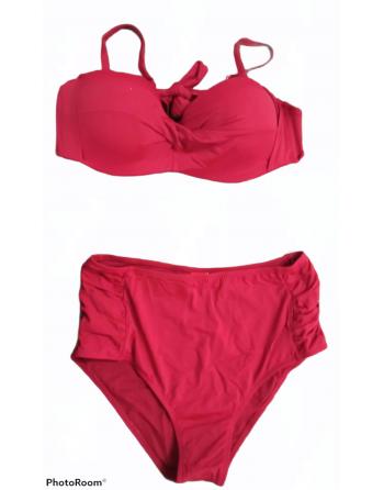Bikini grande taille rouge