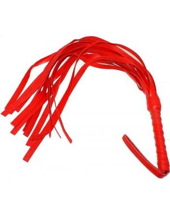 Fouet rouge en pvc 45cm